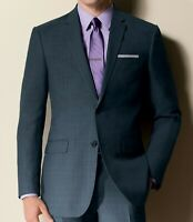 Jos. A BANK JOSEPH COLLECTION SLIM FIT Flat Front Charcoal Gray Wool Suit - 42L
