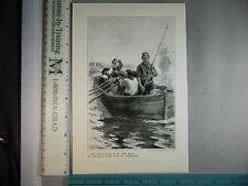 Rare Antique Original VTG Virginian Planter & James River Photogravure Art Print