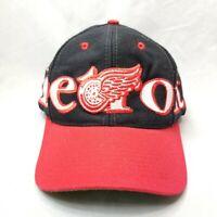 Vintage NHL Detroit Red Wings Logo 7 Snap Back Trucker Baseball Hat