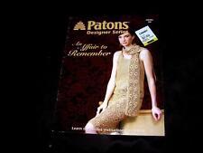 NEW CROCHET PATTERNS CRAFT BOOK, Patons Designer Series Affair Remember DRESSES