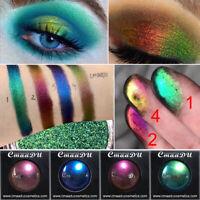 Women Holographic Glitter Eyeshadow Shimmer Eye Shadow Palette Makeup Beauty