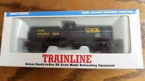 NEW! HO Scale Walthers Trainline CSX MW Railroad Single Dome Tank Car #993363