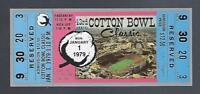 1979 NCAA COTTON BOWL FULL TICKET - NOTRE DAME vs HOUSTON - MONTANA CHICKEN SOUP
