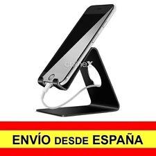Soporte Mesa Aluminio Móvil Tablet Atril Base Teléfono Universal NEGRO a2978