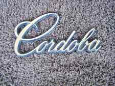 OEM Chrysler Cordoba Body/Dash Emblem. Pot Metal!