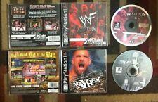WCW MAYHEM & WWF ATTITUDE COMPLETE LOT PLAYSTATION VG SHAPE & TESTED