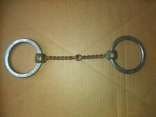 "Sliester Stainless Steel Ring Snaffle Horse Bit 5-1/4"" Copper Mouth Piece"