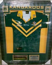 framed Australia Kangaroos Team Signed Players Jersey Issue 2006 Broncos Dragons