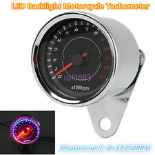 Universal Motorcycle LED Night Light Backlight Gauge Tacho Tachometer 13000RPM