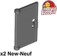 Lego 2x Door porte portière 1x2x3 Vertical Handle poignée gris foncé 60614 NEUF