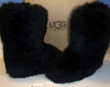 NIB UGG Australia FLUFF MOMMA 5302 black sheepskin BOOTS made in NEW ZEALAND 7