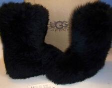NIB UGG Australia FLUFF MOMMA 5302 black sheepskin BOOTS made in NEW ZEALAND 7