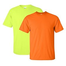 Hi-Vis T-Shirt Fluoro Mens Workwear Work Wear Clothing High Viz Safety Tee Shirt