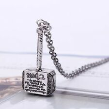 Hot Movie Marvel Comics Avengers Thor Hammer Pendant Necklace Chain Men Jewelry