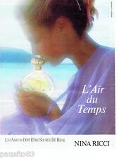 PUBLICITE ADVERTISING 086  1984  Parfium l'Air du Temps D. Hamilton Nina Ricci