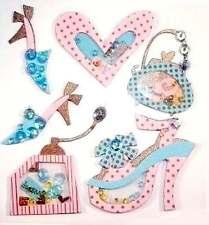 6 Girly Shaker Fashion Accessories Embellishments C0124