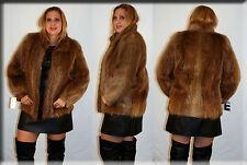 Golden Brown Beaver Fur Jacket Size Small 4 6 S Efurs4less