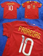 Cesc FABREGAS #10 SPAIN ESPANA World Cup 2014 shirt ADIDAS Boys S 140 cm 9-10YRS