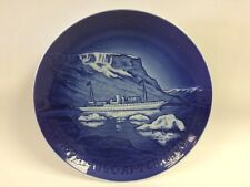 "Preowned 1990 Royal Copenhagen 9"" Christmas Plate ""The Royal Yacht Dannebrog"""