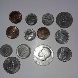 lot de 13 piece ancienne monnaie amérique