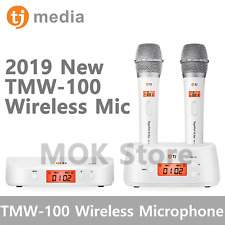 TJ Taijin Media TMW-100 Wireless Microphone 2 mic Set White Colors