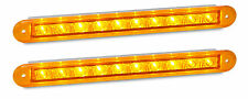 TRAILER REAR INDICATOR RECESSED X 2 LAMPS AMBER 235 S 12 VOLT LED AUTOLAMPS