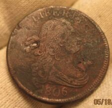 1806 Half Cent   small 6 with stems!!!  XF details