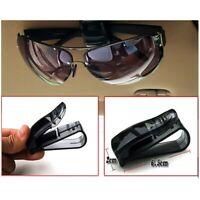 3Pcs Black Universal Car Auto Sun Visor Glasses Sunglasses Ticket Holder Bara