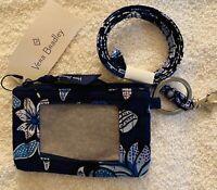 Vera Bradley Zip ID & Lanyard Tropics Tapestry  - New