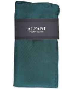 Alfani Mens One Size Green 100% Silk Twill Pocket Square $35