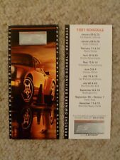 1991 Porsche Owner's Driving School Folder + Schedule, RARE!! Awesome L@@K
