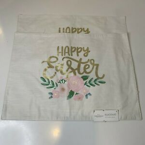 Target Thredshold Placemat  2 NWTs 14in x 19in 100% Cotton Happy Easter Theme