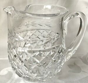 ELEGANT WATERFORD CRYSTAL GLANDORE LARGE PITCHER, JUG, ICE LIP, EXCELLENT COND