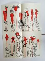 """Alexander Calder """"TOTEMS 1&2 Two Original Stone Lithographs 1966  Rare"""