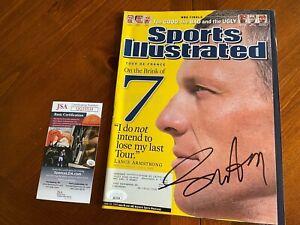 Lance Armstrong Sports Illustrated- Tour de France Signed- June 20, 2005 JSA COA