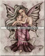 # New JESSICA GALBRETH Fantasy Fairy INNOCENCE Wall Art CERAMIC TILE 8x10 BABY