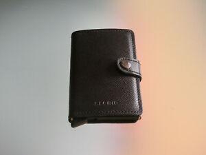 Secrid Slim Wallet Kartenetui Leder schwarz