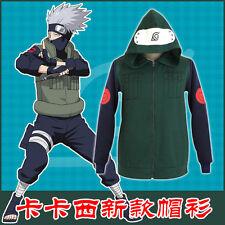 Naruto Hatake Kakashi Hoodie Jacket Top Coat Daily Cosplay Costume X001