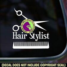 HAIR STYLIST Hairdresser Salon Shears Spa Car Window Sign Vinyl Decal Sticker