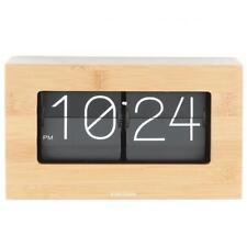 Karlsson Flip Clock Boxed - BAMBOO