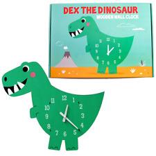 Rex London DEX THE DINOSAUR WOODEN CLOCK