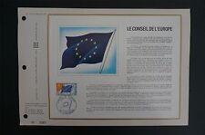 FRANCE CEF 1971 CONCEIL EUROPE EUROPARAT ETB ERSTTAGSBLATT z1428