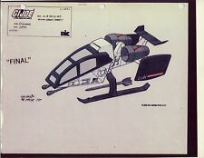 "G.I. GI Joe Sky Hawk Model Cel ""2 PHOTOs"" 80-90's Cartoon Dic Animation City"