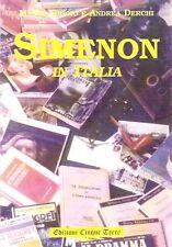 SIMENON IN ITALIA di Marco Biggio e Andrea Derchi - EDIZIONI CINQUE TERRE #