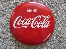 original Drink Coca-Cola button 1963 AM Alan Morrison soda pop advertising sign