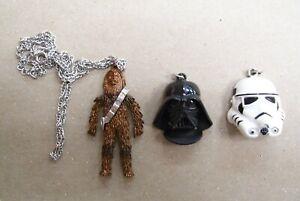 Star Wars Stormtrooper Darth Vader Chewbacca Necklace Vintage 20th Century Fox