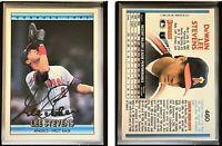 Lee Stevens Signed 1992 Donruss #460 Card California Angels Auto Autograph