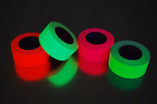 4 Pack 1 Inch UV Blacklight Reactive Fluorescent Gaffer Tape 4 Rolls x 6 Yards