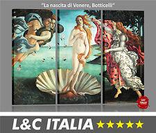 La nascita di Venere Botticelli - 3 QUADRI MODERNI ARREDO CASA UFFICI SALOTTO