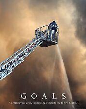 Firefighting Motivational Poster Art Fireman Equipment Badge Helmet Tools MVP233
